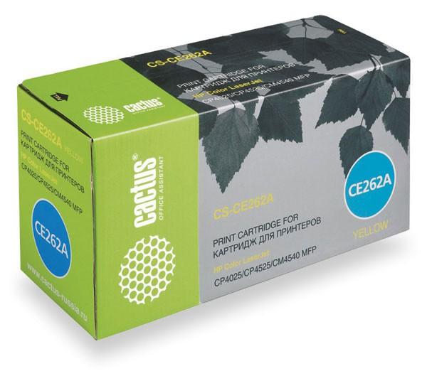 Картридж CACTUS CS-CE262A желтый