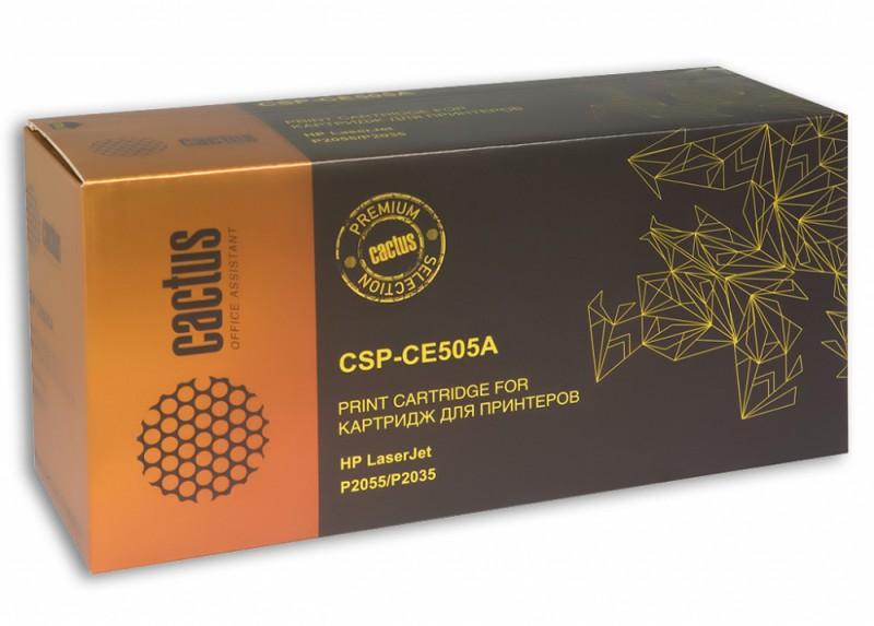 Картридж CACTUS CSP-CE505A черный