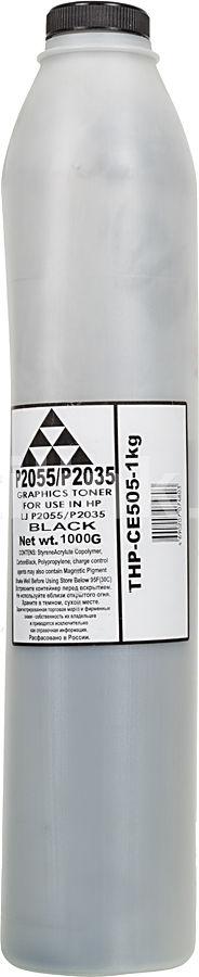 Тонер AQC для HP LJ P2055/P2035,  черный, 1000грамм, флакон