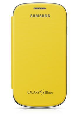 Чехол (флип-кейс) SAMSUNG EFC-1M7FYEGSER, для Samsung Galaxy S III mini, желтый