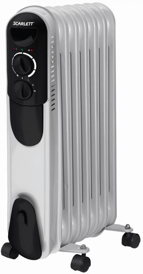 Масляный радиатор SCARLETT SC-055, 1500Вт, белый [sc - 055]