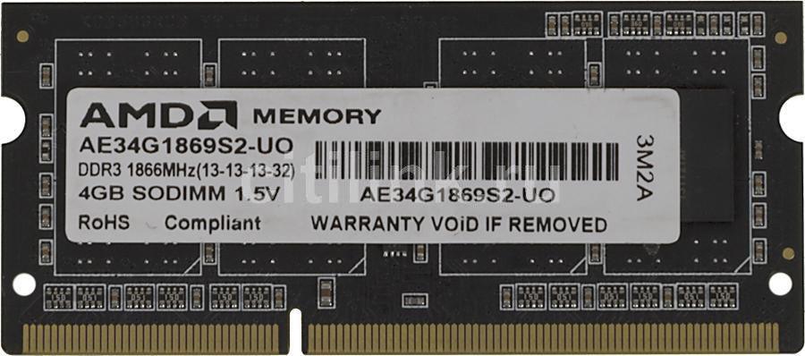 Модуль памяти AMD AE34G1869S2-UO DDR3 -  4Гб 1866, SO-DIMM,  OEM