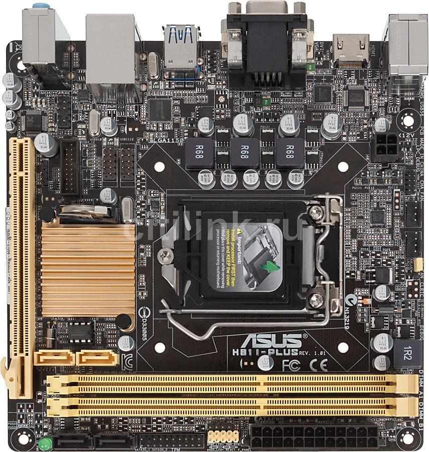 Материнская плата ASUS H81I-PLUS, LGA 1150, Intel H81, mini-ITX, Ret