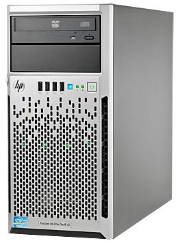 Сервер HP ProLiant ML310e Gen8 v2 1xE3-1220v3 1x4Gb LFF SATA RW 1x350W 1-1-1 (712329-421)