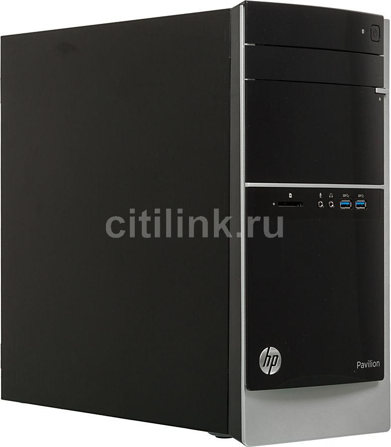 Компьютер  HP Pavilion 500-113er,  Intel  Core i7  3770,  DDR3 8Гб, 2Тб,  nVIDIA GeForce GT640 - 4096 Мб,  DVD-RW,  CR,  Windows 8,  черный и серебристый [d7f30ea]
