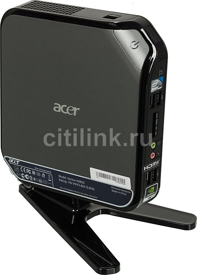 Неттоп  ACER Veriton N282G,  Intel  Atom  D525,  DDR3 4Гб, 500Гб,  nVIDIA G218-ION,  CR,  Linux,  серый и черный [dt.vbher.029]