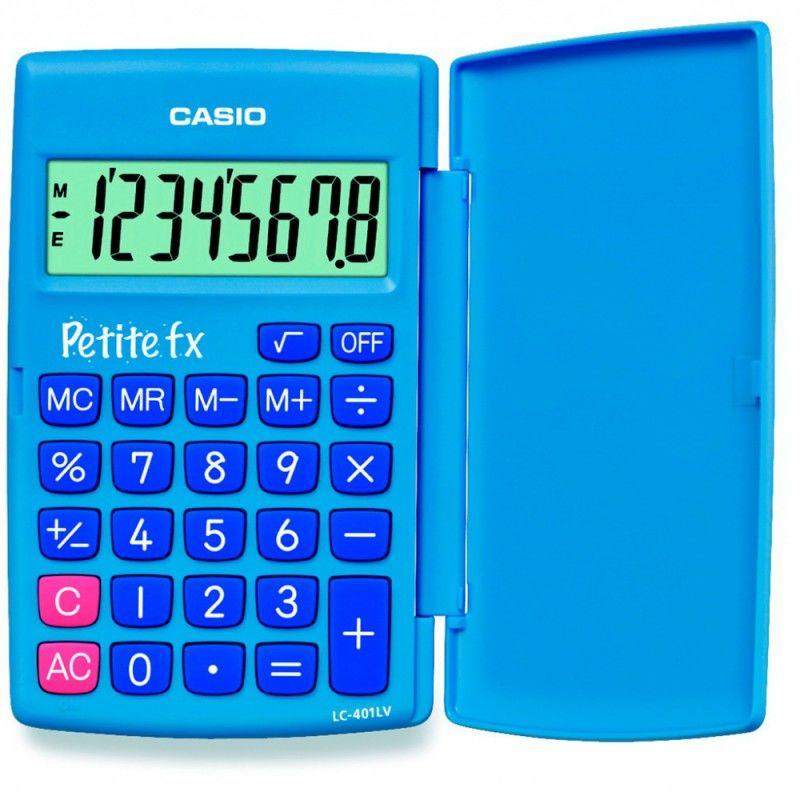 Калькулятор CASIO LC-401LV-BU,  8-разрядный, голубой