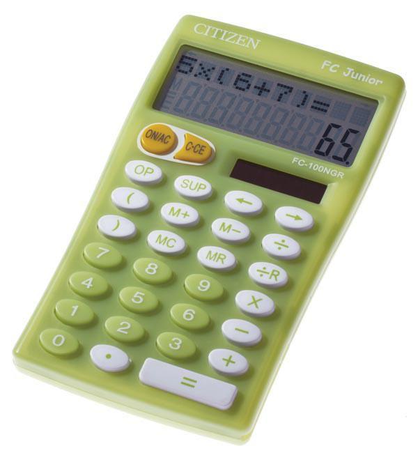 Калькулятор CITIZEN FC-100GR,  10-разрядный, зеленый