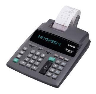 Калькулятор CASIO FR-2650T,  12-разрядный, серый