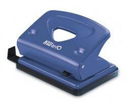 Дырокол Kw-Trio Classic Mini 941BLU макс.:10лист. металл синий отв.:2 с линейкой
