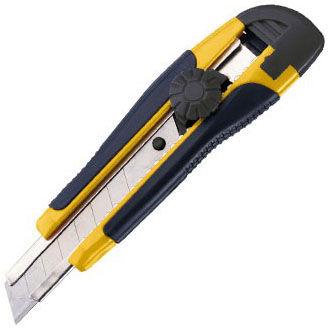 Нож канцелярский Alco 117 шир.лез.18мм усиленный желтый блистер