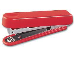 Степлер Kw-Trio 5101RED N10 (10листов) встроенный антистеплер красный 50скоб металл/пластик