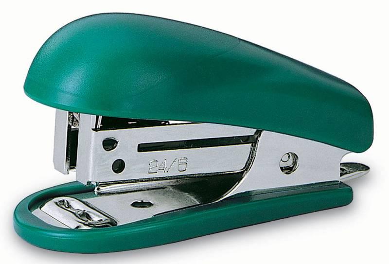 Степлер Kw-Trio 5512 Mini 24/6 26/6 (15листов) встроенный антистеплер ассорти 50скоб блистер