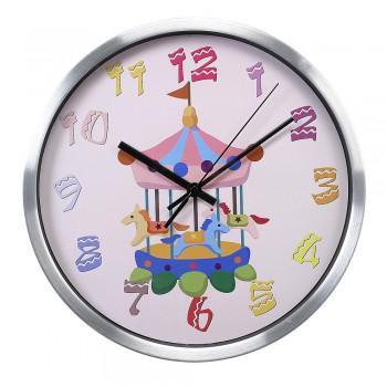 Настенные часы БЮРОКРАТ WallC-R13M, аналоговые,  серебристый