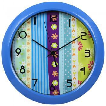 Настенные часы БЮРОКРАТ WallC-R16P, аналоговые,  синий