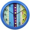 Настенные часы БЮРОКРАТ WallC-R16P, аналоговые,  синий вид 1