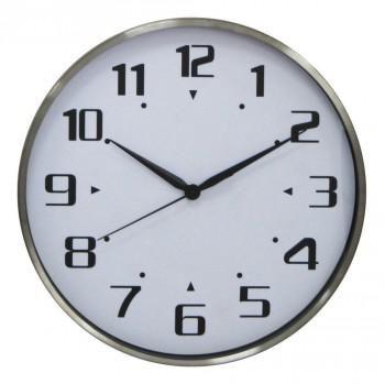 Настенные часы БЮРОКРАТ WallC-R50M, аналоговые,  серебристый