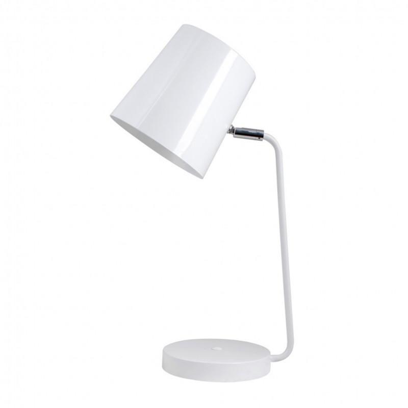 Светильник настольный БЮРОКРАТ BP-8 на подставке,  40Вт,  белый [bp-8/white]