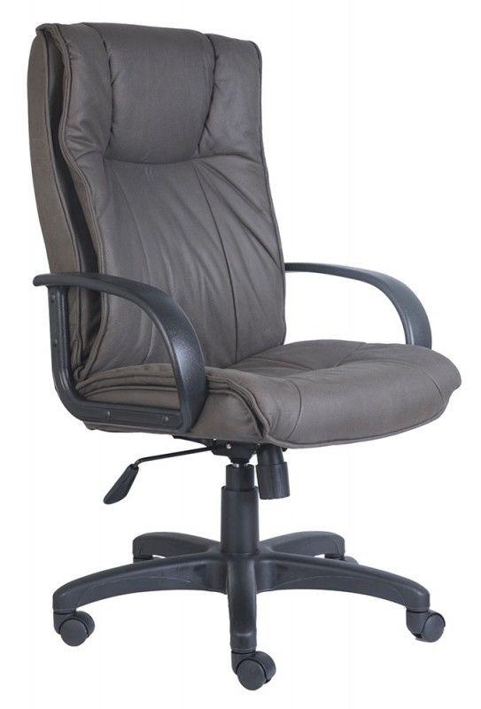 Кресло руководителя БЮРОКРАТ CH-838AXSN, на колесиках, искусственный нубук, темно-серый [ch-838axsn/f4]