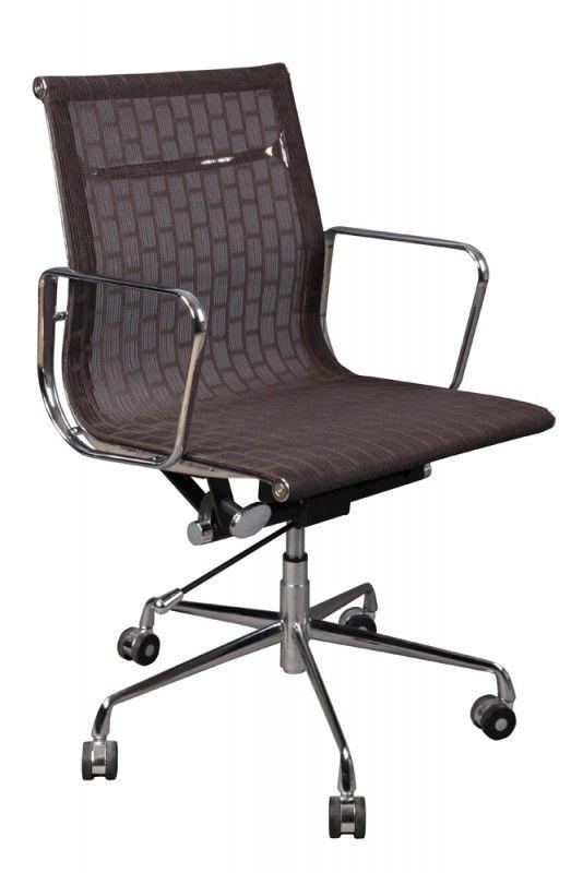 Кресло руководителя БЮРОКРАТ CH-996-Low, на колесиках, сетка, коричневый [ch-996-low/007]