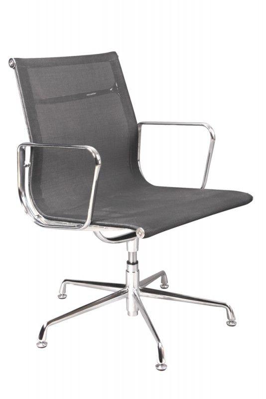 Кресло БЮРОКРАТ CH-996-Low-L, на ножках, сетка, черный [ch-996-low-l/black]