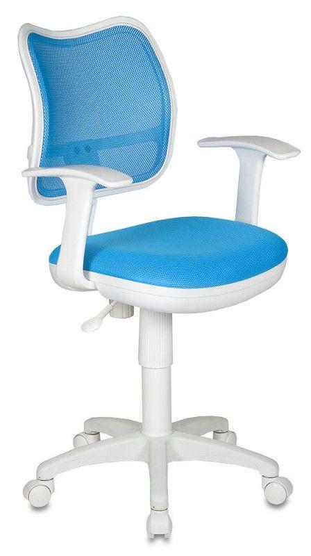 Кресло детское БЮРОКРАТ CH-W797, на колесиках, ткань, голубой [ch-w797/lb/tw-55]