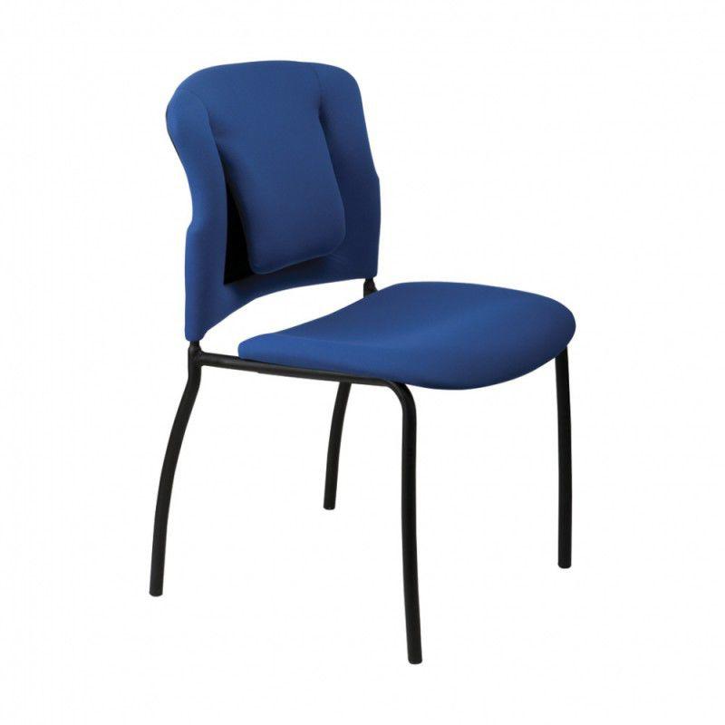 Стул БЮРОКРАТ KP-B320SXN, на ножках, ткань, синий [kp-b320sxn/26-21]