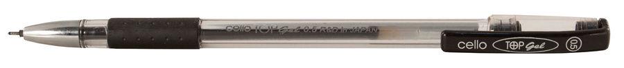 Ручка гелевая Cello TOP GEL 0.5мм резин. манжета черный коробка