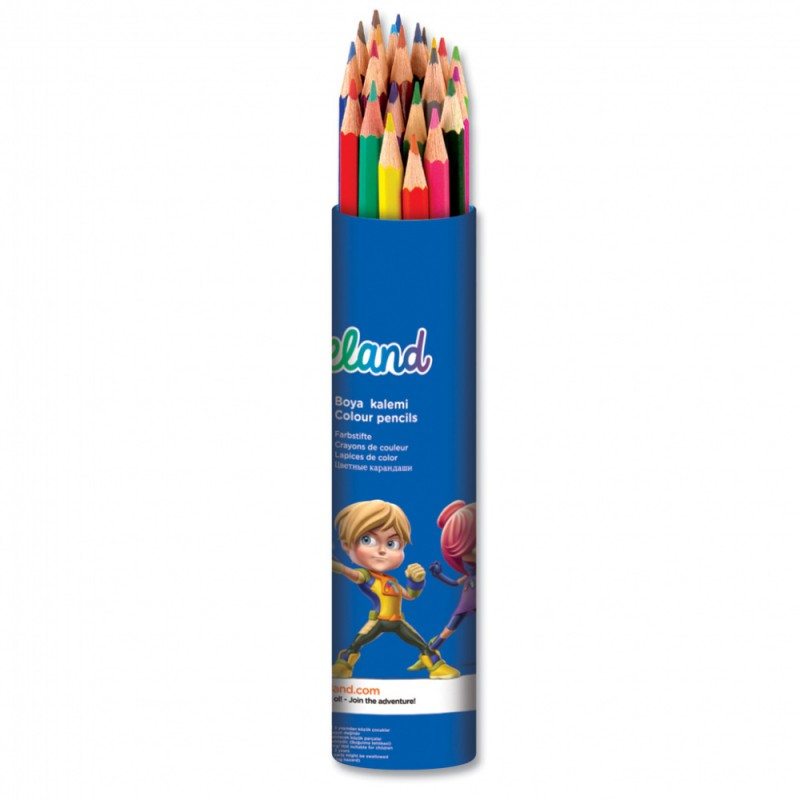 Карандаши цветные Adel ADELAND 211-2360-103 3мм 24цв. алюм.тубус