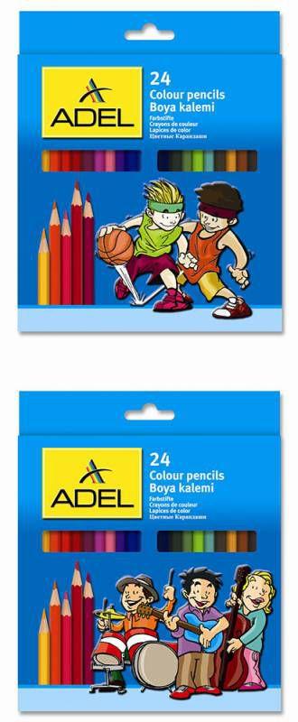 Карандаши цветные Adel Colour 211-2365-007 3мм 24цв. 2 дизайна упаковки коробка/европод.