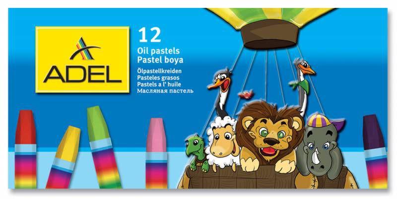 Масляная пастель Adel Colour 428-0837-000 шестигранные 12цв.д.11.5мм картон.кор.