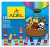 Масляная пастель Adel Colour 428-0857-000 шестигранные 18цв.д.11.5мм картон.кор.