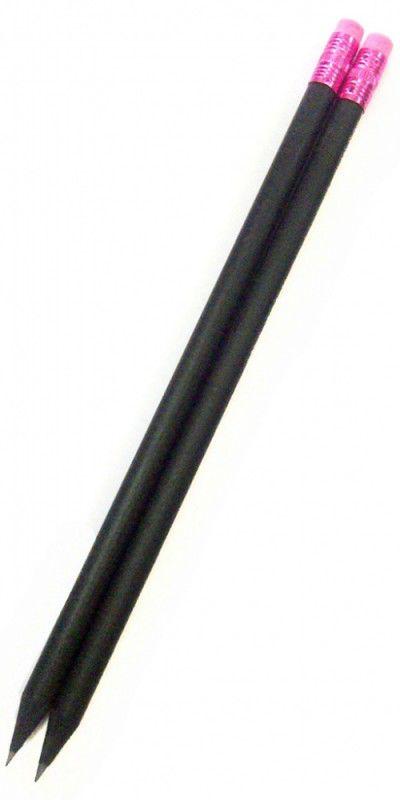 Карандаш чернографит. Adel BLACKLINE 202-1129-839-ROSE HB черное дерево ластик розовый б/маркировки