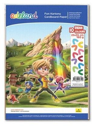 Набор цветного картона Adel ADELAND 434-3030-000 160г/м2 10лист 10цв.
