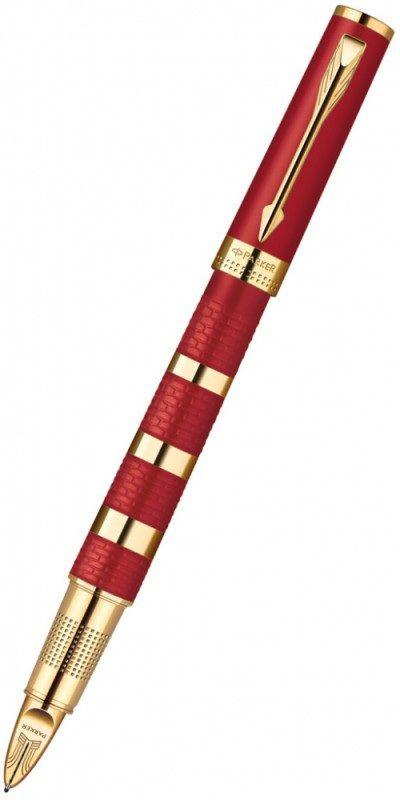 Ручка 5й пишущий узел Parker Ingenuity L F503 Ring (1858534) корпус:Red Metal GT F черные чернила