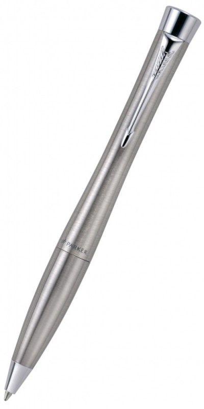 Ручка шариковая Parker Urban K200 (S0767120) Metro Metallic M синие чернила подар.кор.