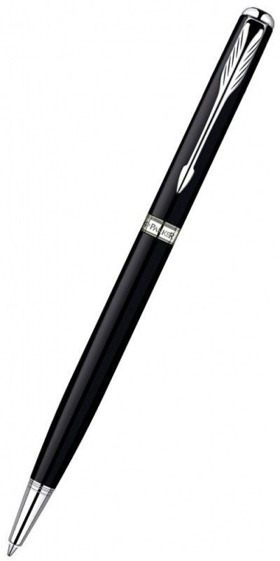 Ручка шариковая Parker Sonnet Slim K430 Slim (S0808840) LaqBlack CT (M) чернила: черный латунь никел