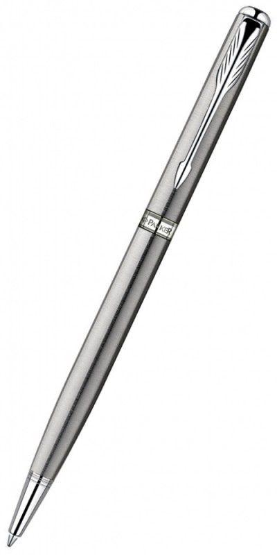 Ручка шариковая Parker Sonnet Slim K426 (S0809250) Stainless Steel CT M черные чернила подар.кор.