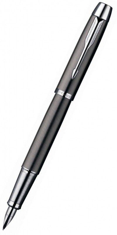Ручка перьевая Parker IM Metal F220 (S0856240) Gun Metal CT F сталь нержавеющая подар.кор.