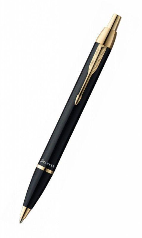 Ручка шариковая Parker IM Metal K221 (S0856440) Black GT M синие чернила подар.кор.
