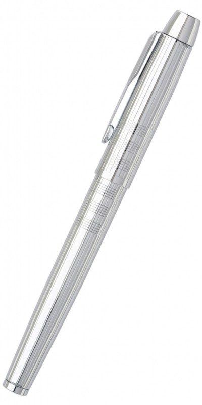 """Ручка перьевая Parker IM Premium F222 (S0908640) Shiny Chrome M сталь нержавеющая гравировка """"сияющи"""