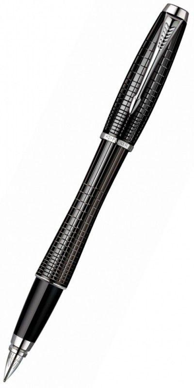 Ручка перьевая Parker Urban Premium F204 (S0911480) Ebony Metal Chiselled F сталь нержавеющая подар.