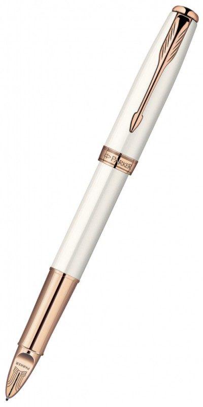 Ручка 5й пишущий узел Parker Sonnet F540 (S0975990) корпус:Pearl PGT F черные чернила