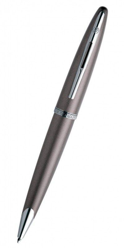 Ручка роллер Waterman Carene (S0839730) Frosty Brown Lacquer ST F черные чернила подар.кор.