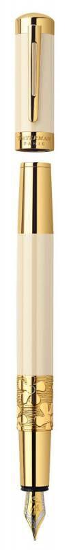 Ручка перьевая Waterman Elegance (S0891310) Ivory GT F золото 18К с частичной родиевой отделкой пода
