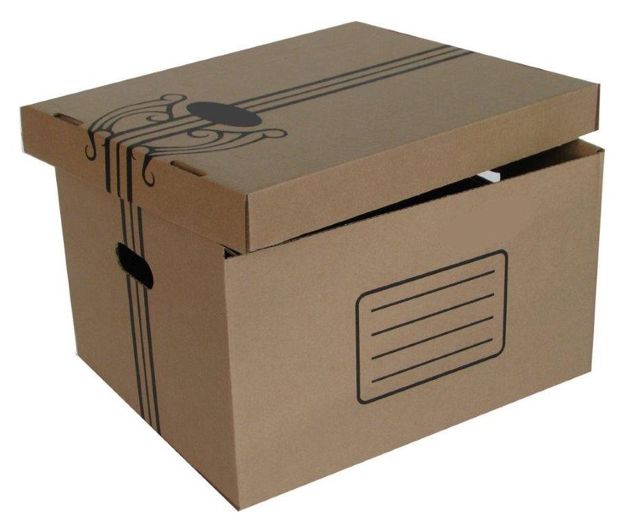 Папка-короб съемная крышка Бюрократ AC-11 микрогофрокартон 355x265x440мм коричневый