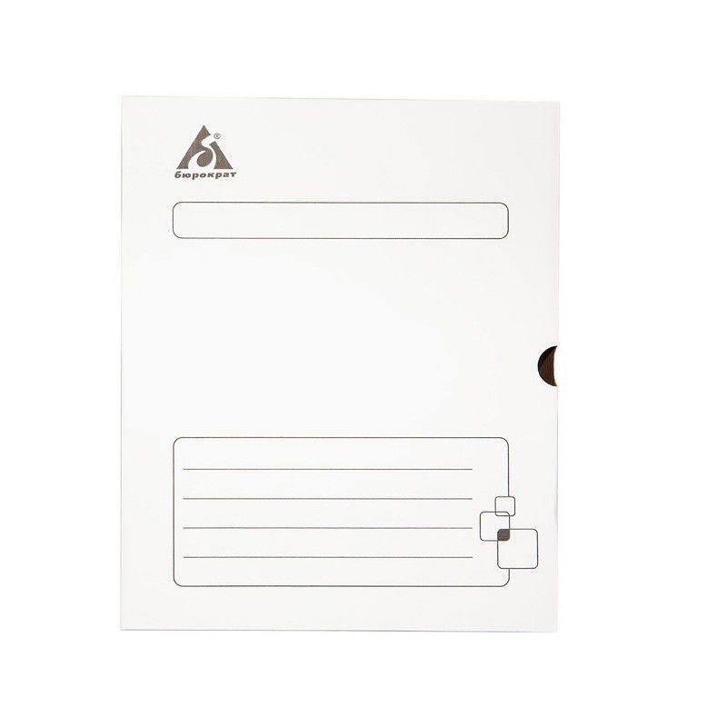 Короб архивный Бюрократ KKA-80WT микрогофрокартон корешок 80мм 255x340x80мм белый