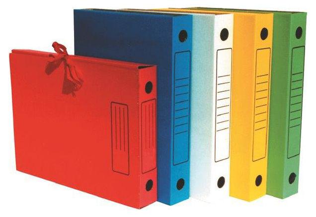 Папка архивная 2 завязки Бюрократ KPA-45Z микрогофрокартон корешок 45мм A4 315x230x45мм ассорти
