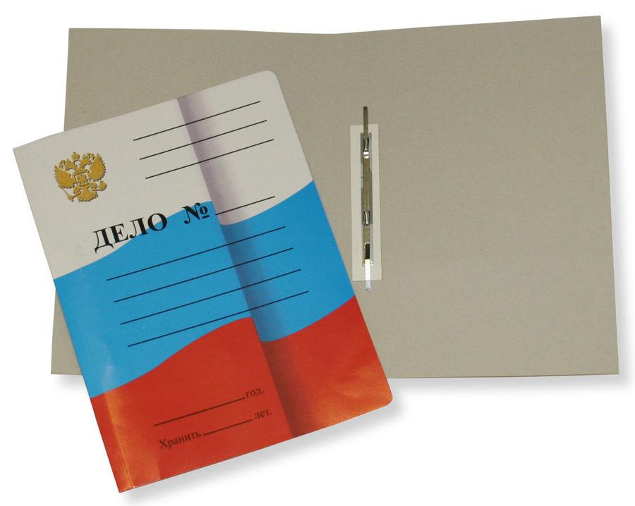 Скоросшиватель Бюрократ SKFLAG картон мелованный 0.6мм 320г/м2 Флаг России