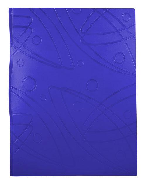 Папка с метал.зажим Бюрократ Galaxy -GA07CBLUE A4 пластик 0.7мм синий